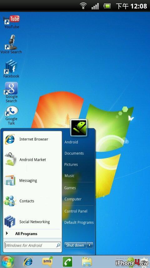 Как сделать из windows 7 android